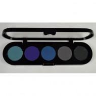 Палетка сухой подводки для век, 5 цветов Make-Up Atelier Paris TE20 10г: фото
