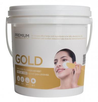 Альгинатная маска с золотом LINDSAY Premium gold modeling mask pack 820 гр.: фото