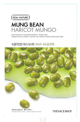 Маска с экстрактом бобов маш THE FACE SHOP Real nature mask sheet mung bean 20мл: фото