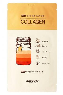 Маска тканевая Коллаген SKINFOOD Boosting Juice 2-step Mask Sheet COLLAGEN 23мл: фото