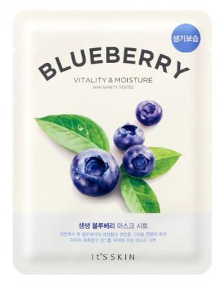 Тканевая маска-лифтинг с черникой It'S SKIN The Fresh Blueberry Mask Sheet 21 г: фото