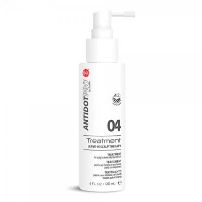 Уход успокаивающий несмываемый для кожи головы и поврежденных волос AntidotPro Treatment 04 120мл: фото