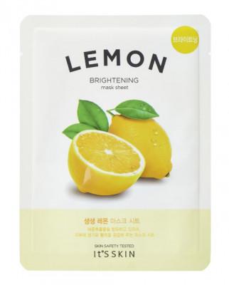 Тканевая маска тонизирующая с лимоном It's Skin The Fresh Mask Sheet Lemon 18 г: фото
