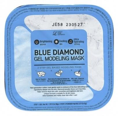Альгинатная маска c алмазной пудрой (пудра+гель) Lindsay Blue Diamond Gel Modeling Mask 50г+5г: фото